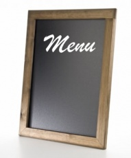CHALKBOARD MENU DISPLAY