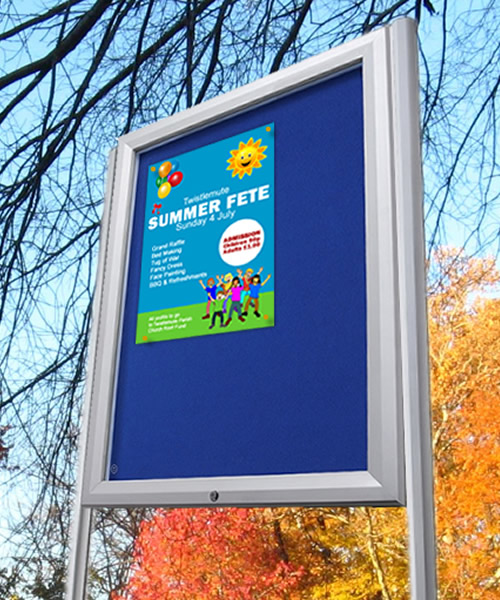 Post Mounted External Notice Boards