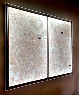 ILLUMINATED WALL MAP LED LIGHT PANELS