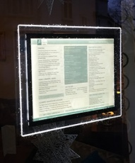 LED ILLUMINATED MENU DISPLAY