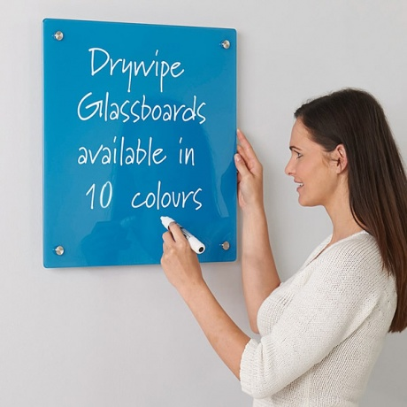 Coloured Glass Magnetic Information Board