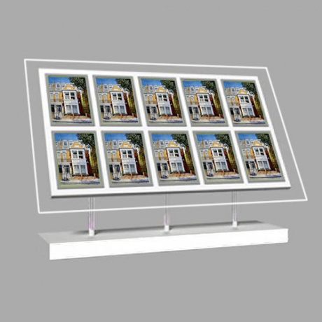 10 x A4 Freestanding Light Panel - With Bevel