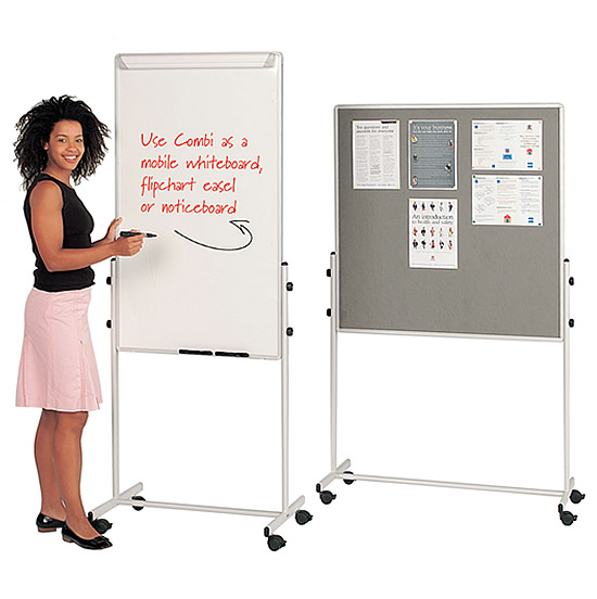 Mobile Notice Board Whiteboard and Pin Board combined ...