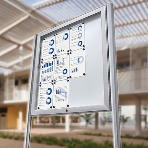 IP56 Weatherproof Rated Magnetic Noticeboard White Light Display
