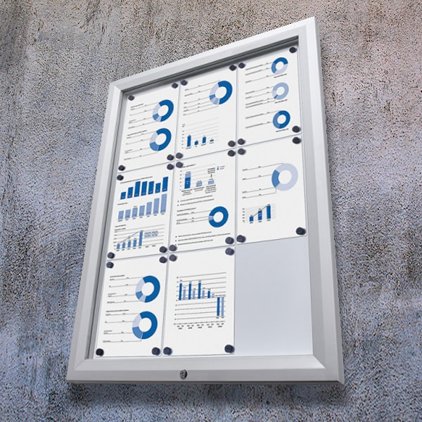 External Noticeboards Best Prices White Light Display