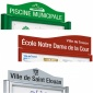 Cyclone 2 Door Noticeboard With Printed Title Plate | IP55 Rated