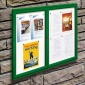 Cyclone 2 Door External Noticeboard | Painted Frame | IP55 Rated