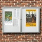 Cyclone 2 Door Post Mounted Noticeboard | IP55 Rated