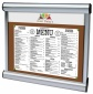 Scroll Interior Menu Case |  Optional Vinyl Text Printing on Glazing