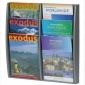 A4/A5/DL Maxi-Tier Wall Mounted Literature Holder in Silver