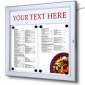 Bistro External Menu Case With Printable Title Plate