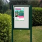 Cyclone Post Mounted Noticeboard - Painted Frame | IP55 Rated