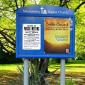 Sentinel External Noticeboard With Printed Title Plate