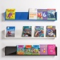 Coloured Shelf Style Book & Magazine Wall Mounted Dispenser