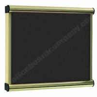 Black Felt Kensington Menu Display Case