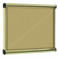 Beige Felt Kensington Menu Display Case