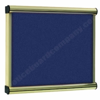 Blue Felt Kensington Menu Display Case