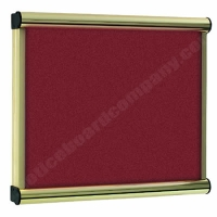 Burgundy Felt Kensington Menu Display Case