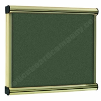 Green Felt Kensington Menu Display Case