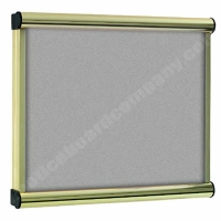 Grey Felt Kensington Menu Display Case
