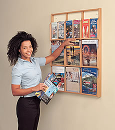 Wall Mounted Literature Dispensers