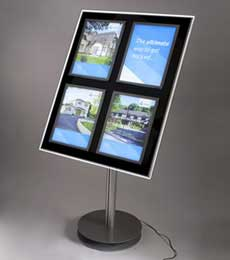 Freestanding LED Light Pockets
