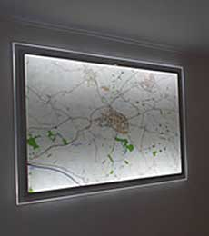 LED Illuminated Wall Maps
