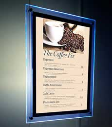 LED Light Pocket Menu Display