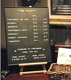 Peg Letter Menu Boards