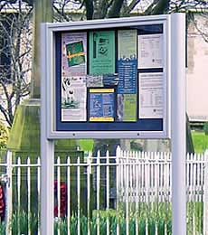 Post Mounted Noticeboards