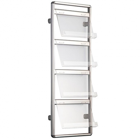 8 x A4 Wall Mounted Literature Dispenser