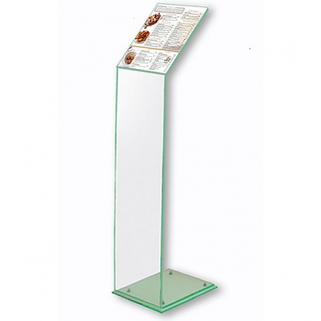 A4 Acrylic Menu Stand with Green Tint