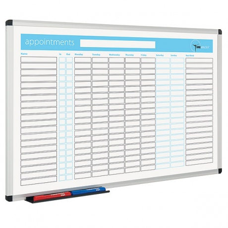 Appointment Planner Dry Wipe Board