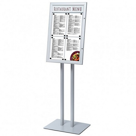 4 x A4 Menu Display Pole With Printable Title Plate