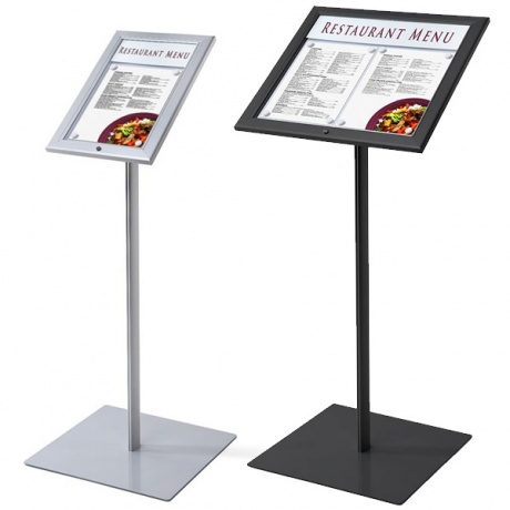 Bistro Lockable Outside Menu Display Stand with Printable Title Plate