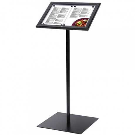 2 x A4 Black Lockable Outside Menu Display Stand