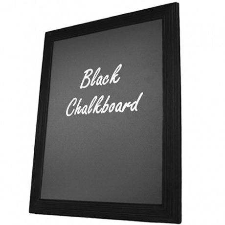 Black Wood Framed Chalkboard