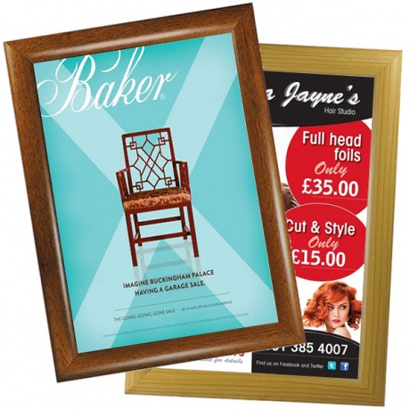 Wood Effect Poster Snap Frame - 25mm Profile
