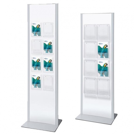 A4/A5/DL Brochure Rack Totem | White & Silver Design