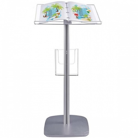 Budget A4 Ringbinder Brochure Stand for individual A4 portrait punched pages