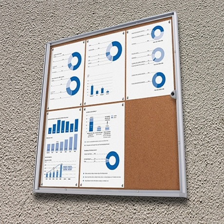 Economy Cork Lockable Noticeboard
