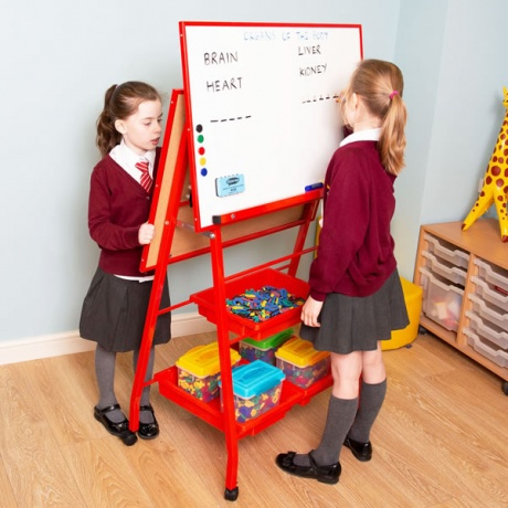 Double Sided Landscape Classroom Whiteboard Easel