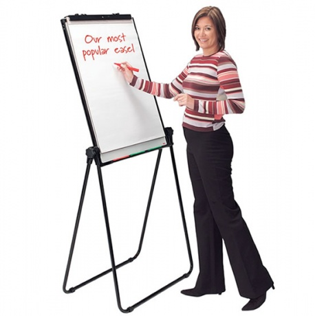 Colour Loop Leg Magnetic Dry Wipe Flip Chart Easel