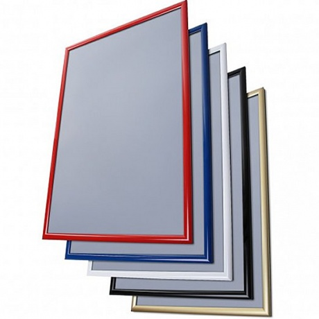 Coloured Aluminium Poster Snap Frames - 25mm Profile