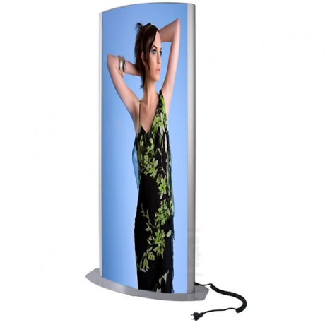 Freestanding Lightbox Totem | Fluorescent Illumination