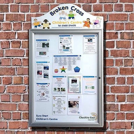 Cyclone External Magnetic Noticeboard With Printed Title Plate | IP55 Rated