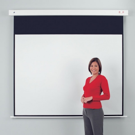 Metroplan Eyeline ® Rollfix Heavy Duty Electric Mounted Projection Screen