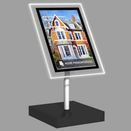 A3 Portrait Freestanding Light Panel | With Bevel