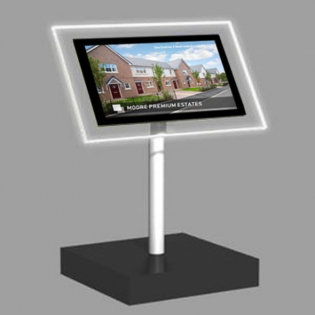 A4 Landscape Freestanding Light Panel | With Bevel