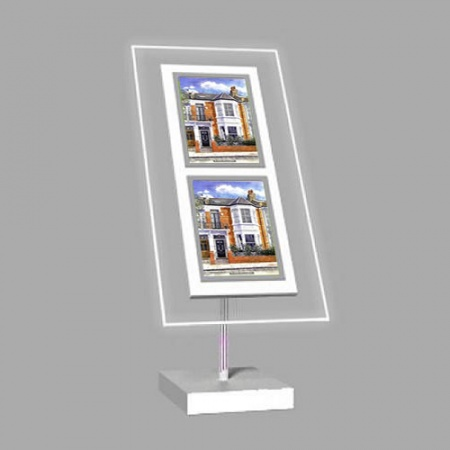 2 x A4 Freestanding Light Panel | With Bevel